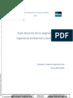 Ingenieria Ambiental y Sanitaria.- Guia Docente