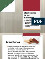 Clasificacion de Los Materiales Refractarios