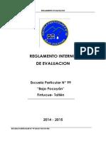 REGLAMENTO INTERNO DE EVALUACIÓN 2014