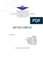 Trabajo Del Metodo Simplex