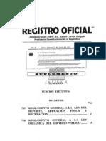 Dinardap Reglamento General a La Ley Organica Del Servicio Publico