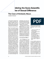 Reconsidering the Socio-scientific Enterprise of Sexual Difference