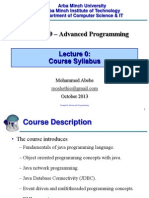 Advanced Programming CH0