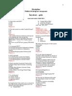 Test Grila PIE 2010-2011 Studenti Zi Si IFR