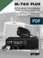 INTEK M-760 Plus - Manual
