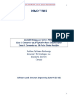 Variable Frequency Drives PMSM