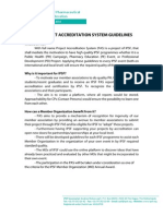 Project Accreditation System Guidelines