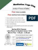 UT Dallas Yoga Flyer