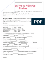 Adjectives x Adverbs Review