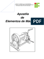 Apostila de  ELEMENTOS DE MÁQUINAS