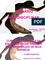 SEMINÁRIO INTERDISCIPLINAR CLIMATERIO 2013