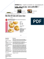 Mini Olive Oil Cakes With Lemon Glaze Recipe _ Food Network Kitchen _ Food Network