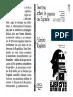 Palmiro Togliatti Escritos Sobre La Guerra de Espana