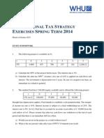 International Tax Strategy Exercises MSc Spring 2014
