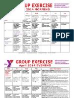 APRIL 2014 Group Exercise Calendar