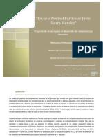 Proyecto de mejora para el desarrollo de competencias docentes, María Isabel Gonzalí Arias.