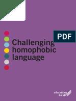 challenging homophobia in schools