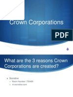 march 28 - crown corporations