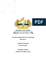 Acta Consejo Escolar Abril 2013