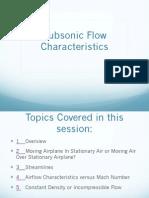 Subsonic Flow Characteristics