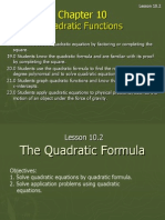 10 2 the quadratic formula