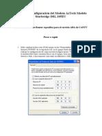Proceso de Configuración del Modem AzTech Modelo Starbridge DSL 305EU