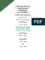 2-Hr Delay 2013-2014 Daily Schedule-2