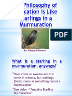 powerpoint -  philosophy of education - starlings in a murmuration