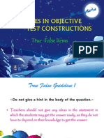 guidelines in test constructions