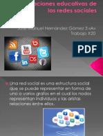 Trabajo 20 Aplicaciones Educativas de Las Redes Sociales