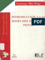 5_Mir Puig Santiago_Introduccion a Las Bases Del Derecho Penal