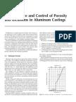 Control of Porosity of Alumnum