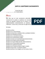 ADORACIÓN ANTE EL SANTÍSIMO SACRAMENTO