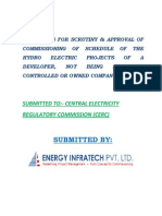 Guidelines for Scrutiny Approval of Commissioning of Schedules Other Hydro Electric Proojects
