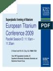 Superplastic Forming of Titanium