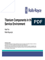 Titanium Components in the Service Environment