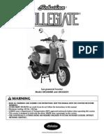 50cc Collegiate Owner Manual