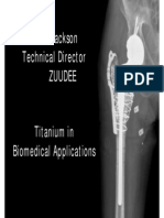 Titanium in Biomedical