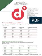 Druckzuck Digitalpreisliste