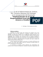 SUBSE SEMINARIO IMPLEMENTACIÓN LEY DE RESPONSABILIDAD PENAL