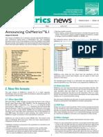 OxMetrics6.1 Newsletter