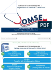 SOS Guide No. 01 Microsoft Office Word