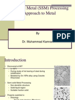 Semi-Solid Metal Processing