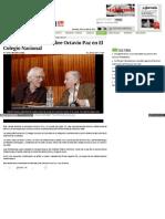 Concluye Encuentro Sobre Octavio Paz en El Colegio Nacional