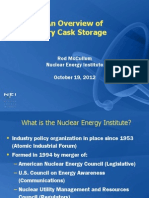 Overview of Dry Cask Storage