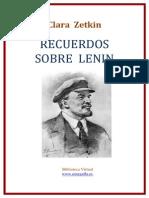 Recuerdos Sobre Lenin