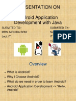 PPT On Android Application Development