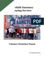 2013 Sanctuary Volunteer Orientation Manual