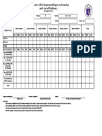 Modified School Form 6 - Summarized Report on Promotion Level of Proficiency
