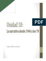 U10. La Narrativa Desde 1940 a Los 70